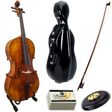 Paititi Solid Wood Ebony Fitted 4/4 Professional Acoustic Cello Kit