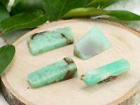 CHRYSOPRASE Tumbled Stones - Two Chrysoprase Stones Green Chalcedony Stone E1172