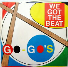 GO GO'S: We Got The Beat/Can't Stop The World 45 RPM Picture Sleeve Record  NM
