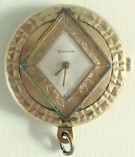 VINTAGE BULOVA 17 JEWELS SWISS MOVT POCKET WATCH NECKLACE CHARM
