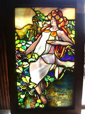 Figural Lady Drapery & Confetti Stained Glass Window- Copper Foil (Sg814)