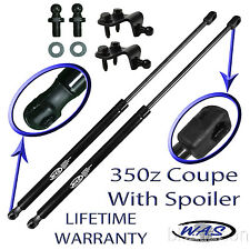 2 New Rear Hatch Trunk Lift Supports Shock Strut Arm For 350z Coupe With Spoiler