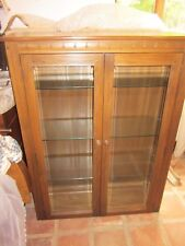 Ercol fully glazed top unit in Golden Dawn, will fit Mural base unit