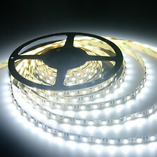 White LED Strip Light Waterproof Flexible NEW 12 volt 5M 2835 SMD 300 White Leds