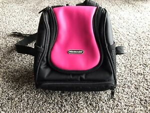 Nintendo Traveling Bag Pink Small Back Pack Used Carrying Case Clean