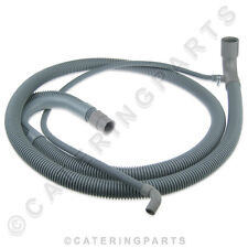 049878 ZANUSSI DISHWASHER GREY FLEXIBLE DRAIN HOSE & OVERFLOW PIPE 2M 2000mm
