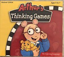 Arthurs Thinking Games Pc New XP Memory Creativity Science Geography History