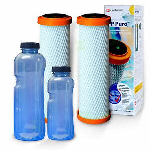 2 x Ifp Puro, Carbonit Monoblock Filter, Plus 2 Drink Tritan Bpa Free (1