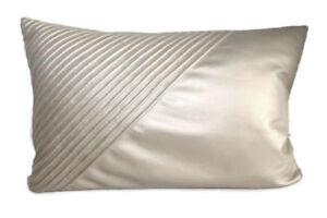 "INC International Concepts Harmony Faux Leather Beige 12 X 20"" Decorative Pillow"