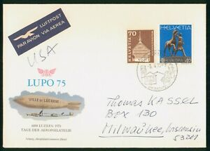 Mayfairstamps Switzerland 1975 Lupo Ville de Lucerne Church Statue Cover wwp_654