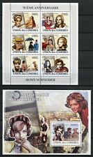 Comoros 2008 MNH Romy Schneider 6v M/S 1v S/S Film Movies Celebrities Stamps