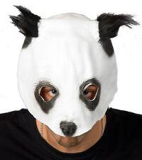 weiße kinnfreie Pandabär Panda Bär Maske Karneval Fasching Tier