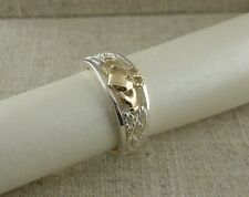 Sterling Silver& 10K Celtic Claddagh Ring KEITH JACK Size 7