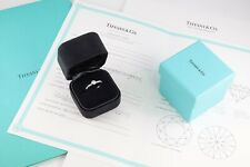 Platinum Solitaire Diamond Engagement Ring 0.23 Ct by Tiffany &Co , Certificate