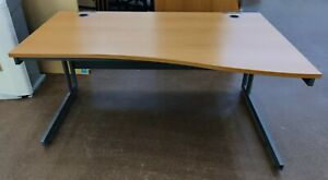 Wavefront Desk (1600mm) Curve Right Hand Office Student FREE MANCHESTER DELIVERY