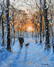 "Signed 'Giclee' print direct from Steve Sanderson, ""A Winter walk"" Northern Art"