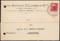 AA6586 Ditta Antonio Colombo di G.mo di Este Colombo & C. - Busto Arsizio 1946