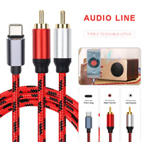 Type-C RCA Audio Cable Type-C to 2 RCA Cable for Male Audio Cable Phone Laptop