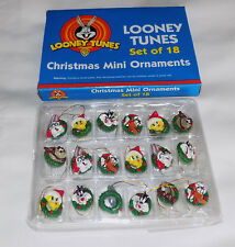 NEW LOONEY TUNES SET OF 18 MINI CHRISTMAS ORNAMENTS BUGS TAZ DAFFY TWEETY