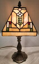 Un estilo Tiffany liderada vidrieras y base de metal Lámpara de Mesa - & trabajo con cable