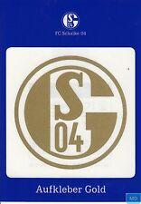 Aufkleber + Auto + FC SCHALKE 04 + GOLD + NEU + Kratzfest + Waschanlagensicher