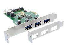 InLine Schnittstellenkarte 3 1 USB 3.0 PCIe mit SATA Strom