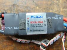 ALIGN RCE-BL100G 100 AMP ESC SUIT 2-6S LIPOS TESTED & WORKING