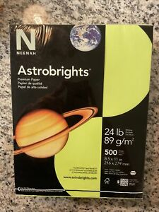Wausau Astrobrights Heavy Duty Paper, 24 lb 500 Sheets Colored Terra Green