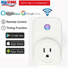 Wifi Smart Plug Power Socket Timer Outlet Remote Control Works with Alexa&Google