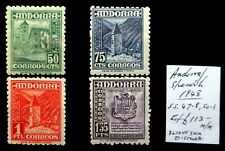 ANDORRA SPANISH 1948 As Described Mounted Mint NH354