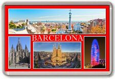 FRIDGE MAGNET - BARCELONA - Large - Spain TOURIST