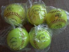 "Lot Of 5 New Sealed 12"" Softballs The Pro Pu Core Genuine Leather ."