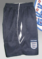 New UMBRO ENGLAND Football Shorts Navy Blue Youth Boys Girls XL Age 13-15 Yrs