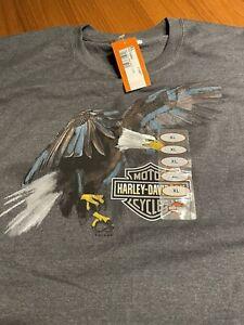 Brand New Eagle Smudge Harley-Davidson T Shirt 2016 Essex Junction, VT