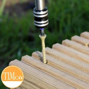 GREEN DECKING SCREWS Anti Corrosion Garden Outdoor Fencing Wood Fixings 50/60/70