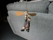 """HANGING MOBILE DECORATION  """" The Only Way to Fly"""" ( Movement from long spring)"""