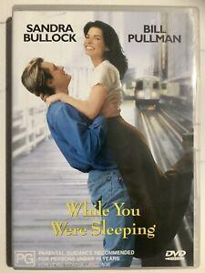 WHILE YOU WERE SLEEPING - DVD Region 4 - Sandra Bullock LIKE NEW CONDITION