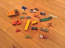 Joblot Of Vintage Matchbox Lesney Corgi Tonka , Dinky Toy Cars And Farm Trailers