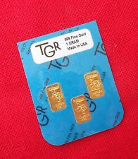 GOLD 1 GRAM 24K PURE TGR BULLION BARS 999.9 THE IDEAL PREPPERS COMBO PACK !!