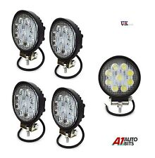 4 PCS 12V/24V 27W 9 Round LED Work Light Spot Beam Lamp 4WD Jeep SUV ATV Truck