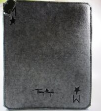 Thierry Mugler  Ipad / Tablet Case Color Grey W 9 1/2 H 10 in 100% Polyester