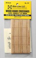 Wood Grade Crossings Curved 21-23 HO SCALE TRAIN LAYOUT DIORAMA BLAIR LINE 127