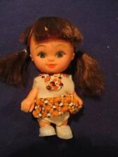 "Vintage Doll Miniature 3.75"" Dark Hair Hong Kong"