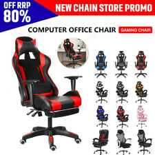Ergonomic Racing Gaming Office Chair Swivel Computer Desk Seat Leather Recliner
