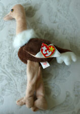 Ty Beanie Baby Stretch Plush Ostrich Sept 21, 1997 With Errors & 1965 (Kr) Mint