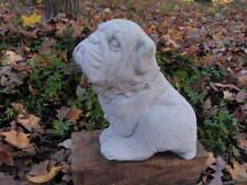 """Precious Cement 8"""" Tall Bulldog Garden Art Dog Concrete Statue"""