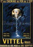 VITTEL 1912 Vintage Leonetto Cappiello Mineral Water Poster CANVAS PRINT 24x32