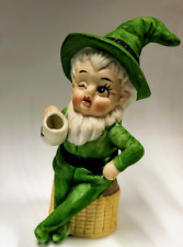 "New ListingVintage Winking Leprechaun with Mug St Patrick's Day Irish Figurine 4"" Tall"