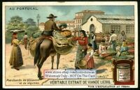 Fish And Vegetable Merchants Portugal c1910 Trade Ad Card