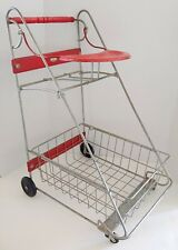 "Vintage AMSCO Doll E Toys Metal Toy Shopping Grocery Cart  24"" T x 14"" W x 16"" D"